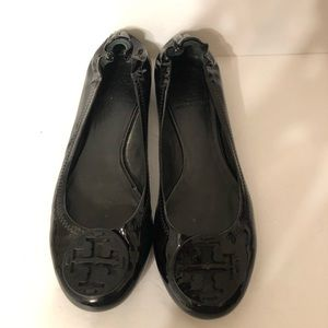 TORY BURCH black patent leather shoes